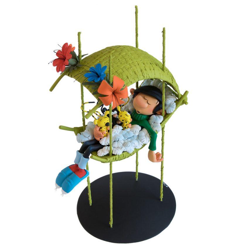 Gaston dans le nid des bébés Marsupilami - Franquin