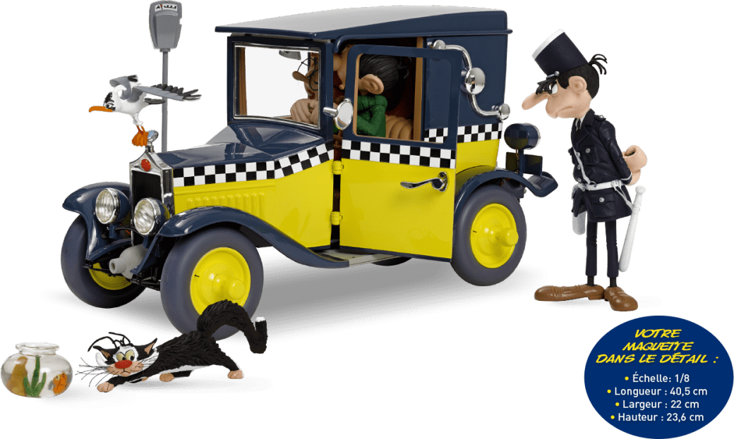 La maquette de la Fiat de Gaston Lagaffe